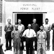 First power plant employees