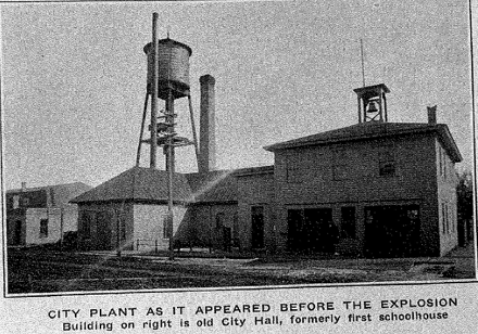 old city plant, as it appeared before the explosion
