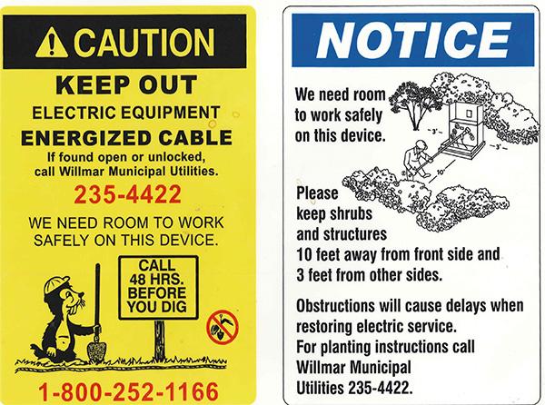 notice caution signs