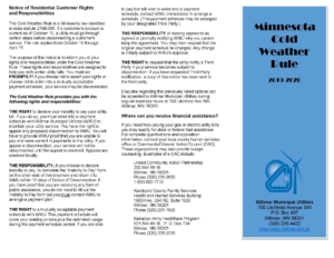 WMU Minnesota Cold Weather brochure and application