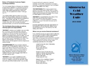 WMU Minnesota Cold Weather brochure and application